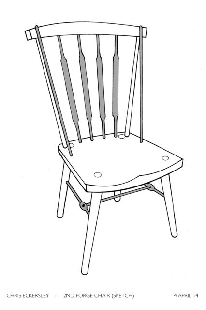 Sketch of Forge Chair