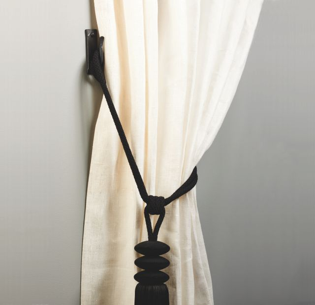 tie back hook and tie back on curtain
