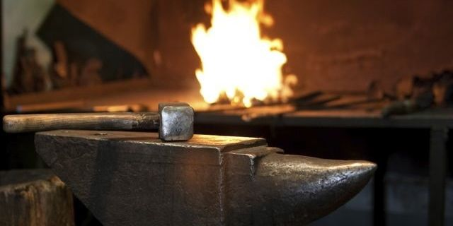Fire, hammer, anvil pic