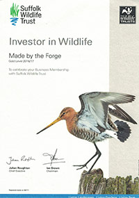 Made by the Forge is an 'Investor in Wildlife'