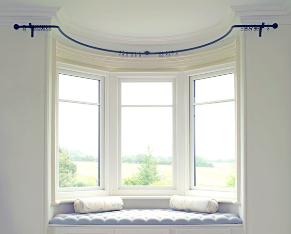Wrought Iron Bay Window Curtain Poles Made To Measure