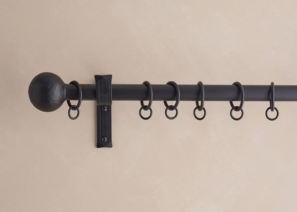 25mm Cannonball finial, matt black finish