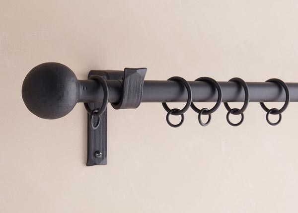 custom made iron curtain poles