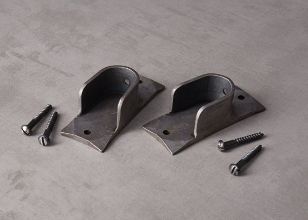 Recess curtain pole brackets