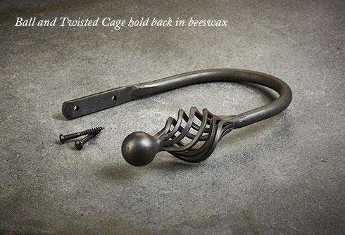 Ball and Twisted Cage hold back in beeswax