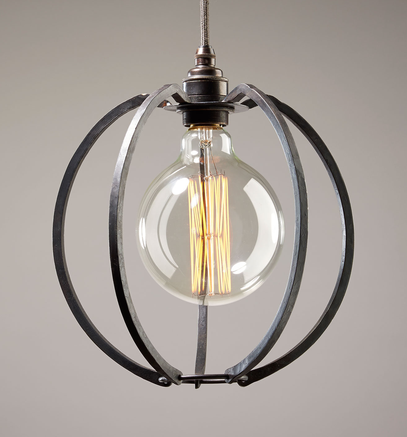 cage lighting. Farrier\u0027s Cage Globe - Iron Pendant Light, Round Lighting A