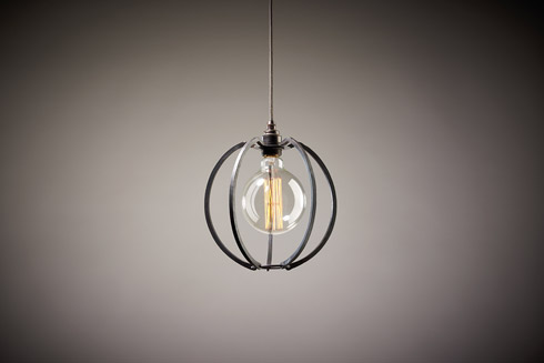 Iron Lighting Cage - Round/Globe