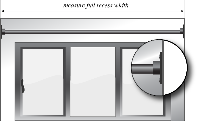 measuring your windows for recess curtain poles