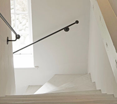 Bespoke wrought iron staircase handrails