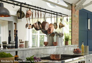 Pan Rail for a Kitchen by Martin Moore