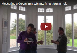 Measuring up and installing a Curved Bay curtain pole