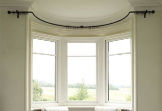 Bay and Circular Window Curtain Poles