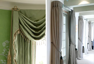 French style curtain poles