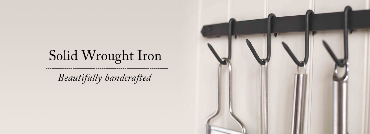 Wrought iron pan racks