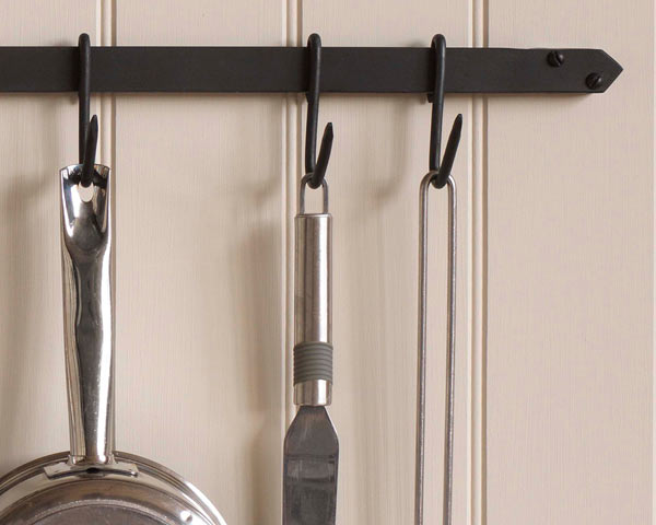 Wall Mounted Wrought Iron Pan Rack Made By The Forge