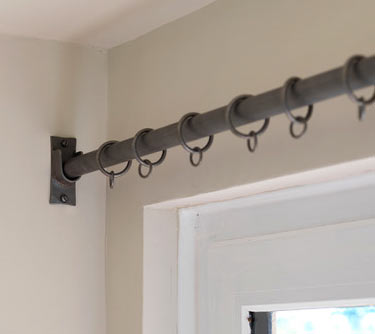 wrought iron recess curtain poles